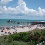 4th of July Crowds North of Cocoa Beach Pier