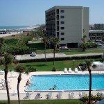 View of the Cocoa Beach Towers pool